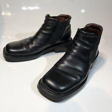 BARNEYS Men's US 11 Black Chelsea Ankle Boots Leather Slip-On Italy RARE!!