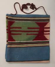 GREECE GREEK OLD   HANDWOVEN  PATCHWORK  WOOL BAG  IN TRADITIONAL DESIGN 28x30cm