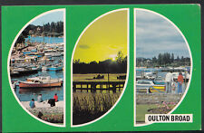 Suffolk Postcard - Views of Oulton Broad, Yachts and Pleasure Craft A2292