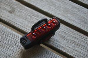 Lezyne road bike multi LED rear tail light USB rechargeable super bright - Black