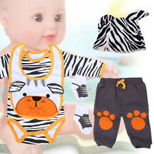 Simulation Infant Doll Clothes Set Cartoon Bear Clothes for 20-22 Inch Doll