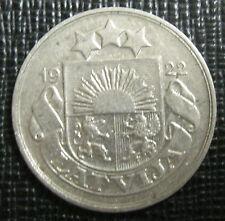 Lettonie - Latvia - 20 SANTIMU 1922 - Nickel