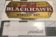 Blackhawk Nugget Tool Box 1940's Bullet Box decals replacement Set 2