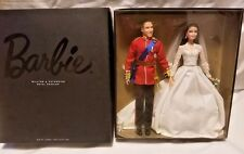 RETIRED Barbie 2012 Gold Label William & Catherine Kate Royal Wedding Gift Set