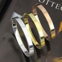Herren Armband Rose Gold Silber plt. Armreif Schmuckset Bracelet Liebe  Ges Z4C3