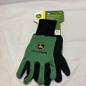 John Deere Light-Duty Cotton Grip Gloves Gardening Gloves -Youth KIDS SIZE U3