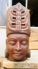 Ancient Rare Sand Stone Hand Carved Fine Tribal Lord King Figurine Sculpture
