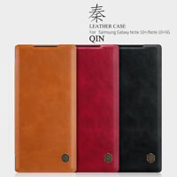 NILLKIN Qin Series For Samsung Galaxy Note 10 Plus Ultra-thin Flip Leather Case