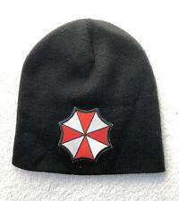 Resident Evil UMBRELLA CORPORATION Black Beanie Hat Cap Cosplay