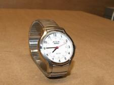 Vintage WORKING Acqua Indiglo Womens Watch White Face Red 2nd Hand WR 30M