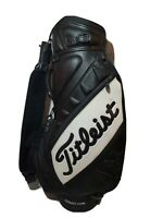 Titleist Vokey Design Leather Black Golf Club Bag Carry Cart Bag Cover