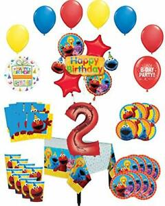32Pcs Sesame Inspired Balloons Party Supplies 12 Elmo Latex Balloons for Kids Baby Shower Birthday Party Decorations