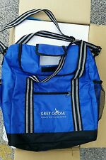 6 Brand new Custom unique Grey Goose branded cooler bags for golf or having fun