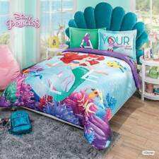 The Little Mermaid Reversible Comforter Set Full Queen Size Soft and Warm 3PCS