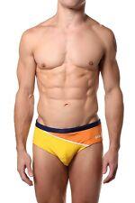 Mens Swim Brief JOCKO LG Diagonal Color Orange Yellow Swimwear Suit Fashion New