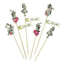 Truly Alice in Wonderland Mad Hatter Birthday Party Cake Picks / Toppers x8