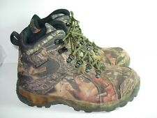 MENS BROWN WATERPROOF CAMO HERMAN SURVIVORS HIKING HUNTING BOOTS SHOES SIZE 10 M