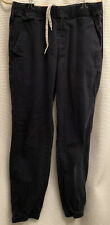 Men's UNIONBAY Jogger Pants Blue Medium Elastic Waist Drawstring Cotton Spandex