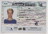 2018-19 Parkhurst Permits - FULL SET