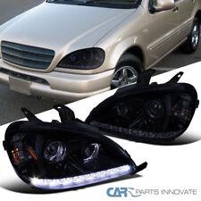 Glossy Black For 98-01 Benz W163 ML320 ML430 ML55 AMG LED Projector Headlights