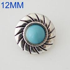 SMALL SNAP * TURQUOISE Snap 12mm Interchangeable Jewelry Fits Ginger Snaps