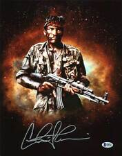Charlie Sheen Platoon Authentic Signed 11X14 Photo Autographed BAS Witnessed 4