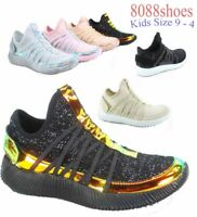 Youth Girls's Kid's Cute Light Weight Flat Slip On Sneaker Shoes size 9 - 4 NEW
