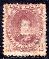 NEWFOUNDLAND #32A 1c BROWN LILAC, 1871, VG, USED