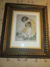 Artist proof signed by  Artist Joan Purcell- Color Sketch Woman & Child, Tanya