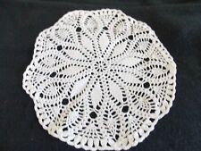 VINTAGE ROUND WHITE SMALL PINEAPPLE DIAMOND PATTERN DOILIE,SHABBY,HOME DECOR