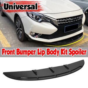 Black Universal Front Bumper Spoiler Lip Body Kit Splitter Chin Decoration UK