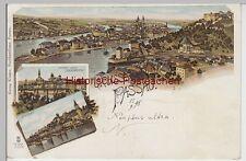 (111524) AK Gruß aus Passau, Donaubrücke, Innstadt 1898