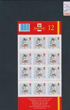 XC39611 Great Britain robin birds winter XXL sheet MNH fv 8,4 £