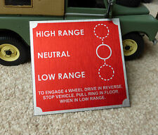Land Rover Series 1 80 Ring Pull Gearbox Bulkhead Transfer Box Information Plate