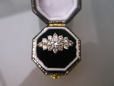 Women's 9ct Gold CZ Stone Cluster Ring Stamped Size O Weight 2g