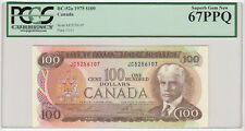 1975 Bank of Canada $100 Banknote - PCGS Gem New 67PPQ
