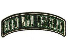 "COLD WAR VETERAN 4"" ROCKER Military VET POW Embroidered MC Biker Patch PAT-3488"