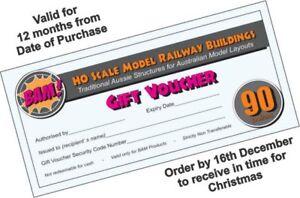 $90 Gift Voucher for BAM Model Railway Buildings and Novelties