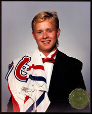 MONTREAL CANADIENS VALERY BURE PHOTO 8X10 ROOKIE PIC HAND SIGNED AUTOGRAPHED