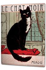 Tin Sign XXL Cat Chat Noir
