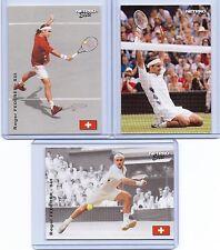 """ROGER FEDERER 2003 """"3 CARD LOT"""" NETPRO TENNIS CARD! 7X WIMBLEDON CHAMPION!"""