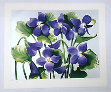 """Lowell Blair Nesbitt Signed and Numbered X-Large Serigraph """"Violet Aborato"""""""
