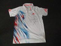 2012 US Open Men's First Round Jo-Wilfried Tsonga Match Used Worn Adidas Shirt