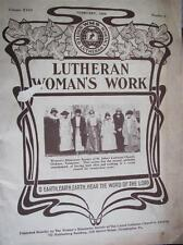 1925 Lutheran Woman's Work Magazine Church Cover DICKON TN Missionary Society
