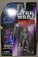 STAR WARS SHADOWS OF THE EMPIRE CHEWBACCA BOUNTY HUNTER DISGUISE AXE RIFLE MOSC