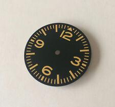 Yellow Pilot Aviation Aviator Sinn Style MOD Dial Seiko 7S26 movement 28.5mm