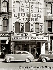 Hughes Liquor Store, Gateway District, Minneapolis, MN 1939 Historic Photo Print