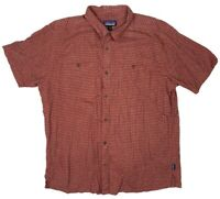 Patagonia Men's Shirt Red Button Down XL Short Sleeve Hiking