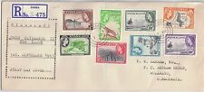Nyasaland 1953 FDC Definitive Set 1/2d to 6d [8] Zomba - Bulawayo - Barham-Green