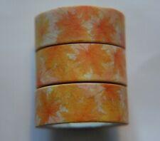 Japanese WASHI Tape ~ 7m x 15mm ~ Autumn Orange MAPLE Leaves